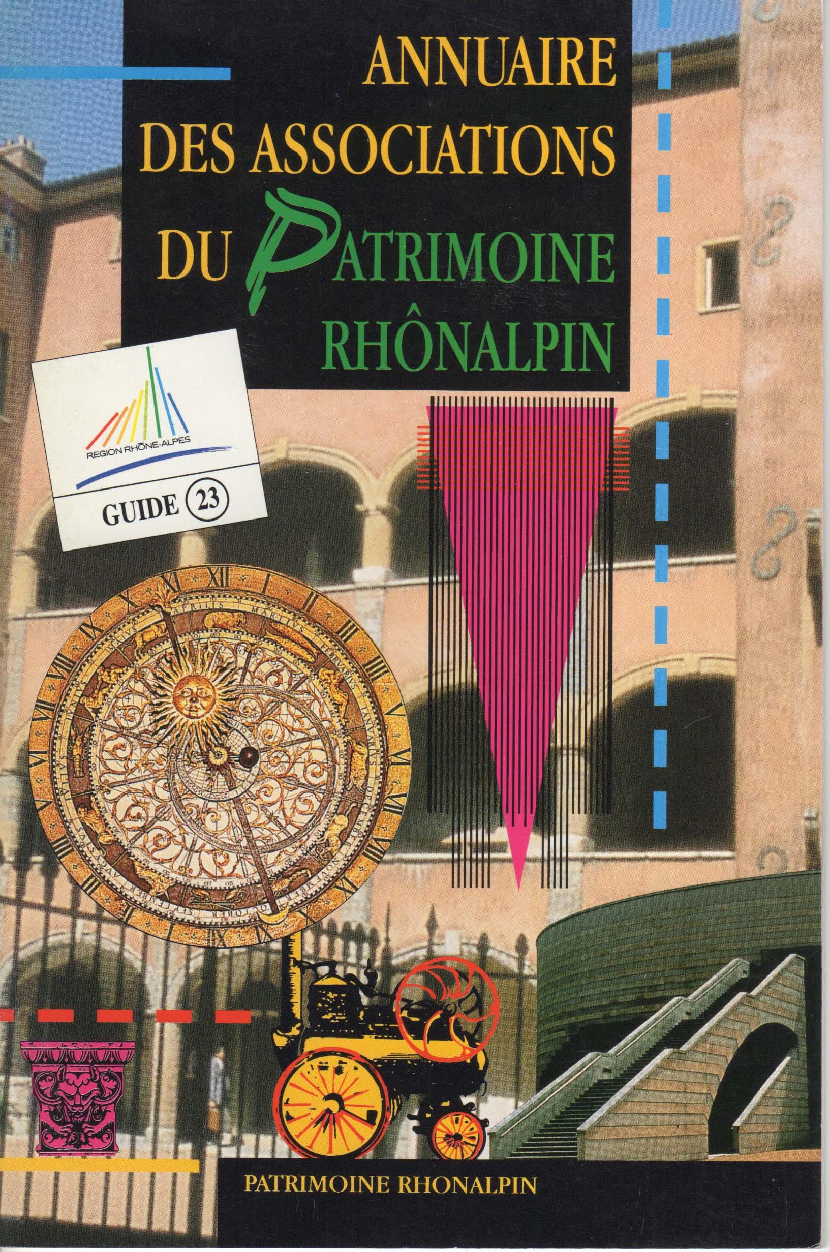 Guide n°23 – Annuaire des associations du Patrimoine Rhônalpin