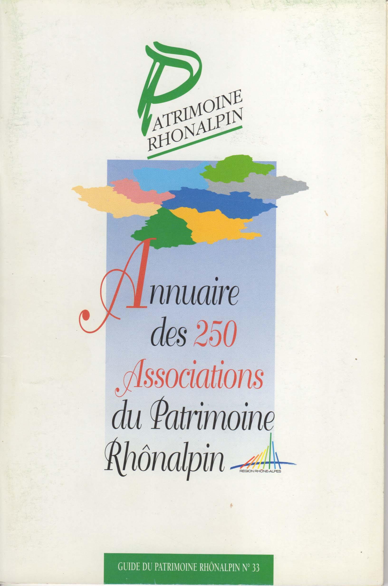 Guide n°33 – Annuaire des 250 associations du patrimoine rhônalpin