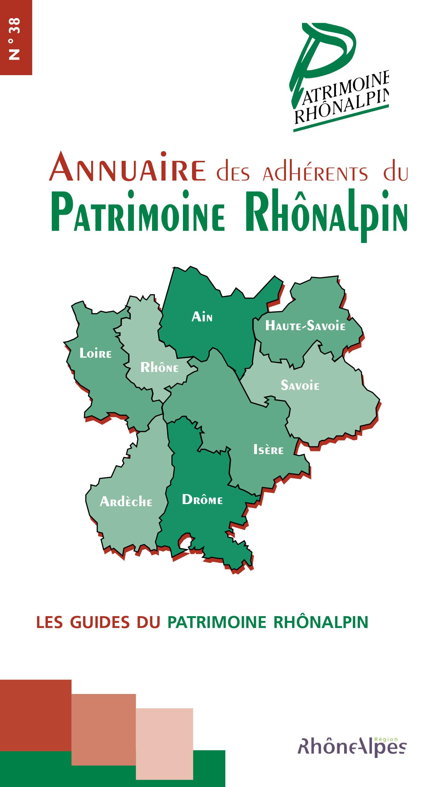 Guide n°38 – Annuaire des adhérents du patrimoine rhônalpin