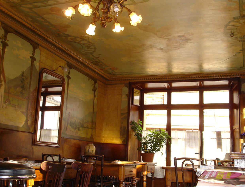 Conservation du café des Arts (Mens, Isère)