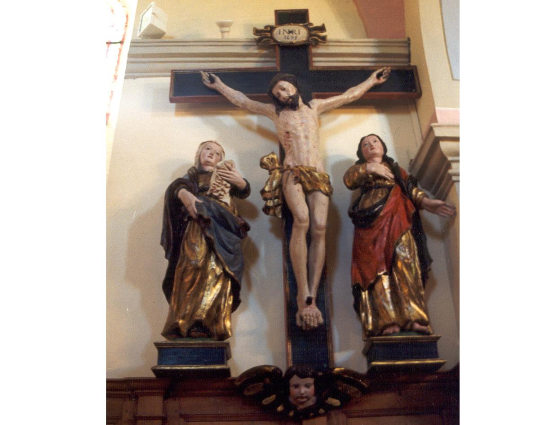 Restauration de la poutre de gloire de l'église Saint-Nicolas-de-Montrond (Savoie)