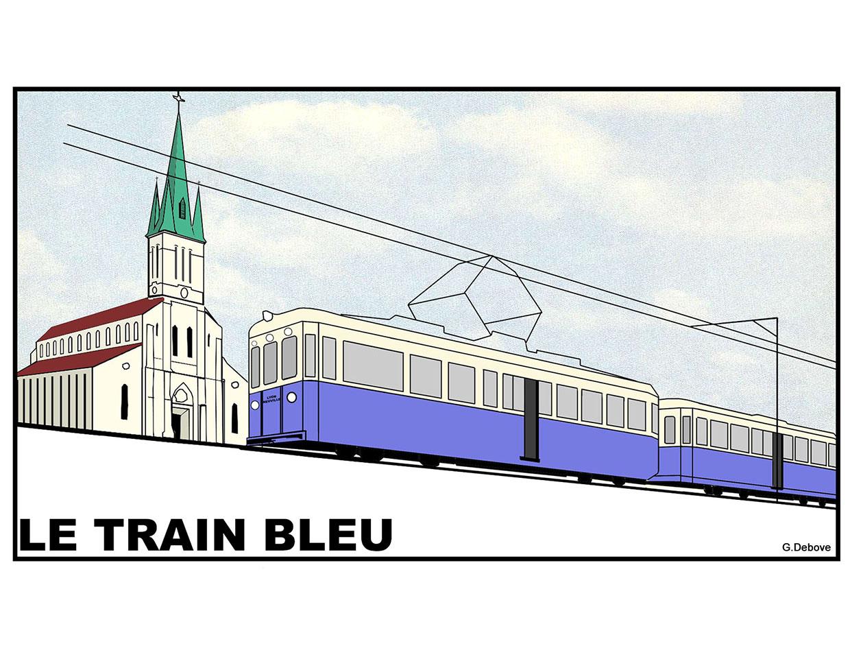 Exposition la saga du train bleu (Fontaines-sur-Saône, Rhône)