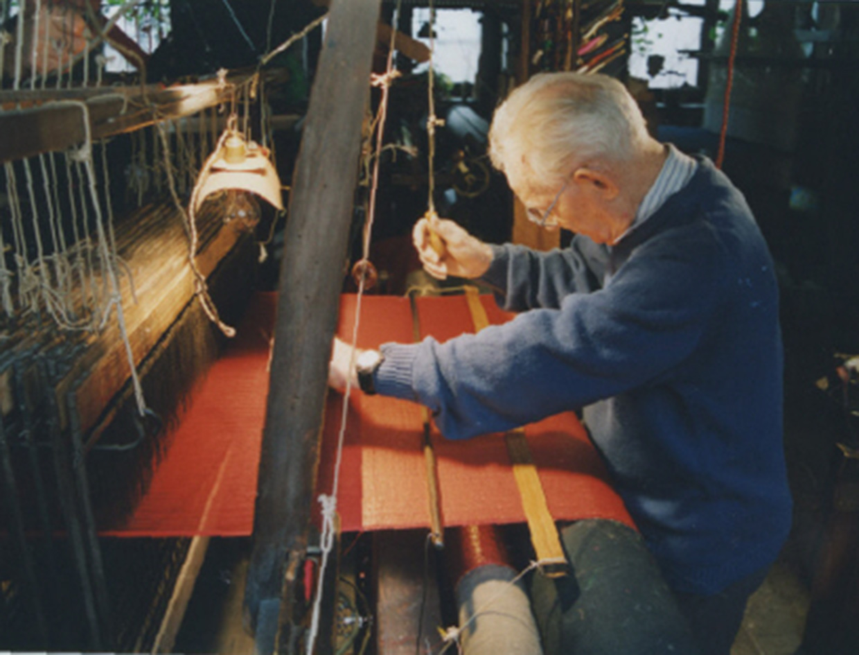 Atelier de tissage à bras de Geroges Mattelon (Lyon, Rhône)
