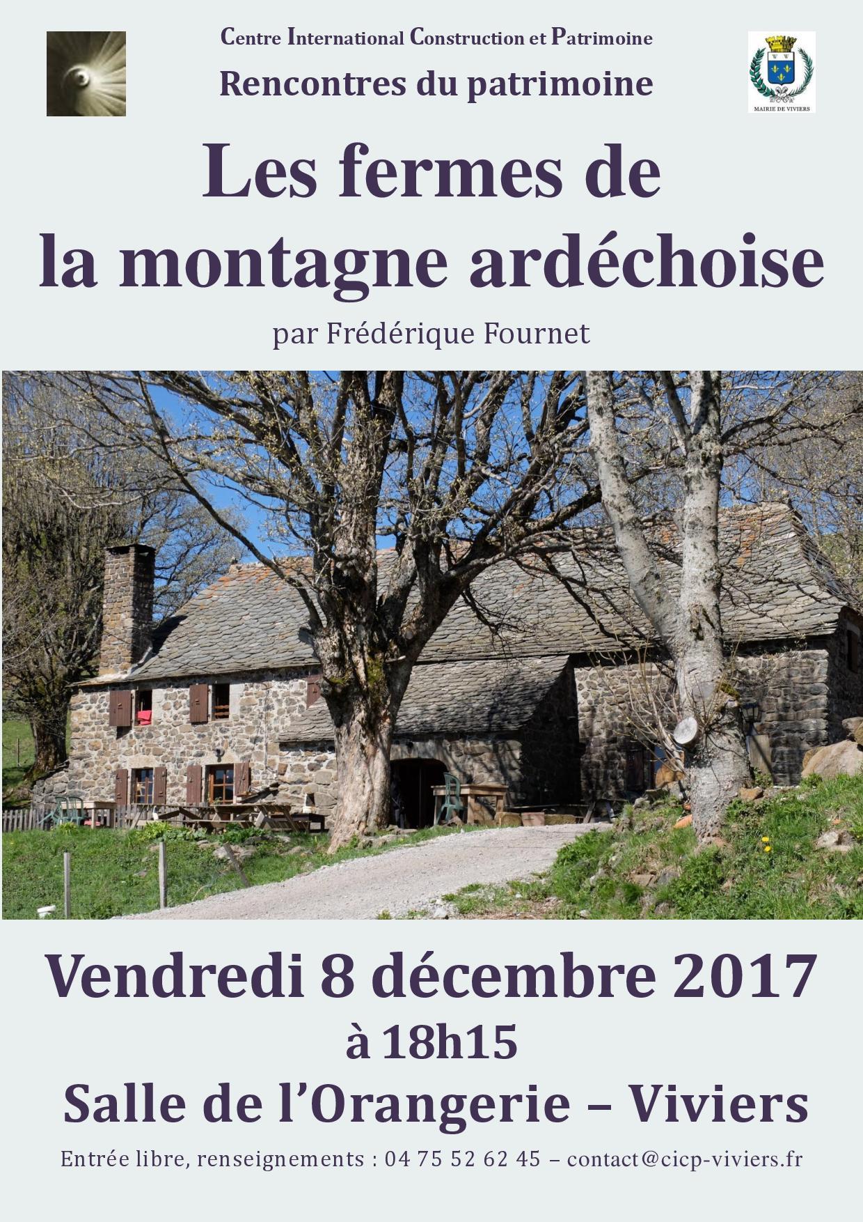 Conférence : Les fermes de la montagne ardéchoise