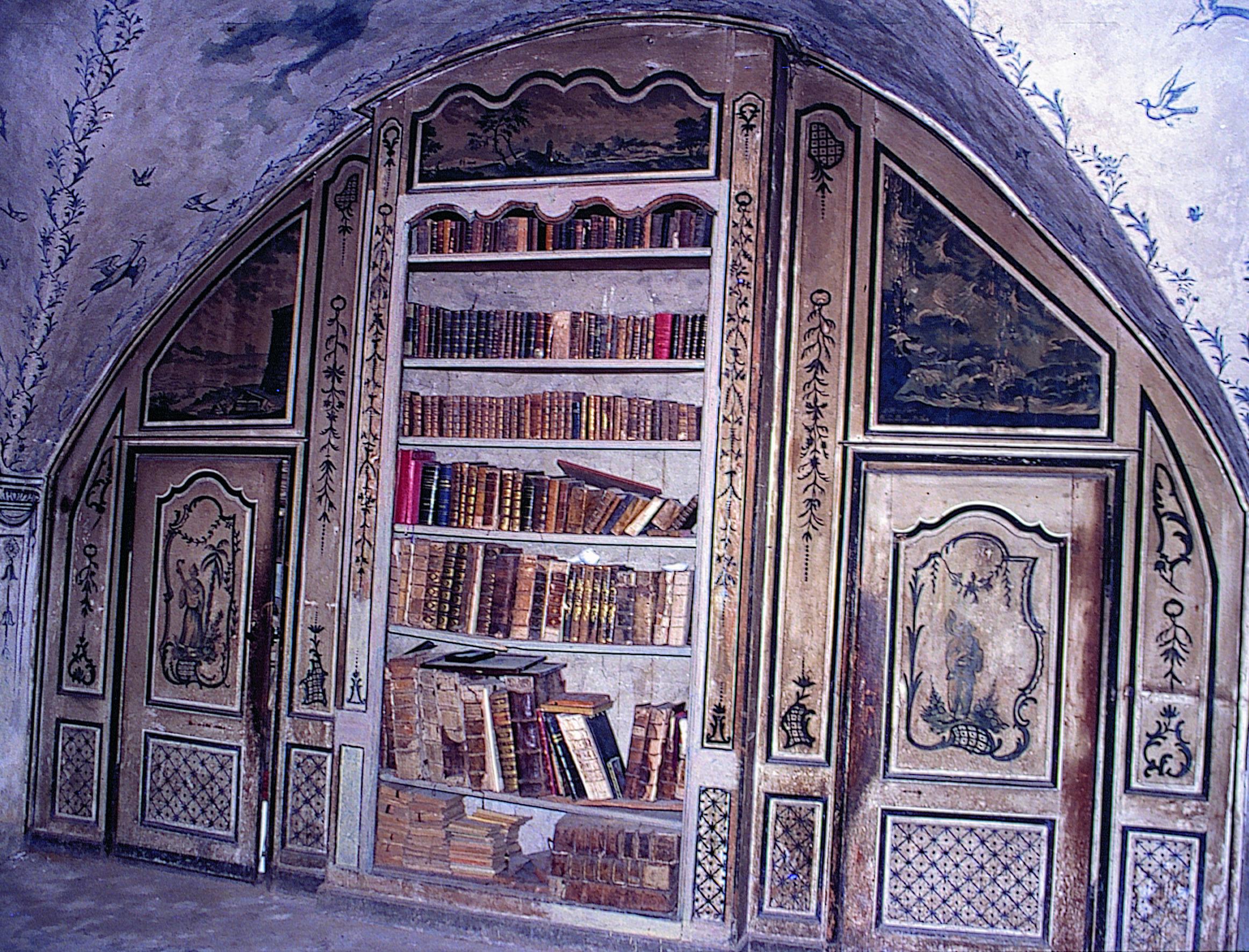 Restauration du décor peint du saln chinois du presbytère (Montlaur-en-Diois, Drôme)