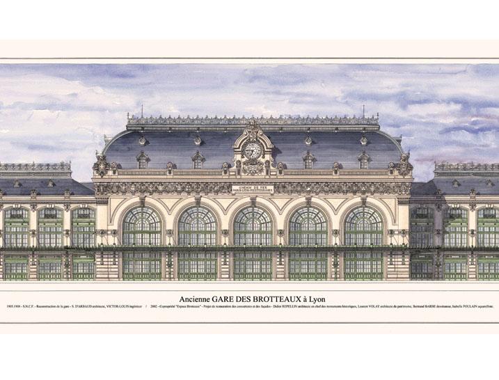 Réhabilitation de l'extérieur de la gare des Brotteaux (Lyon, Rhône)
