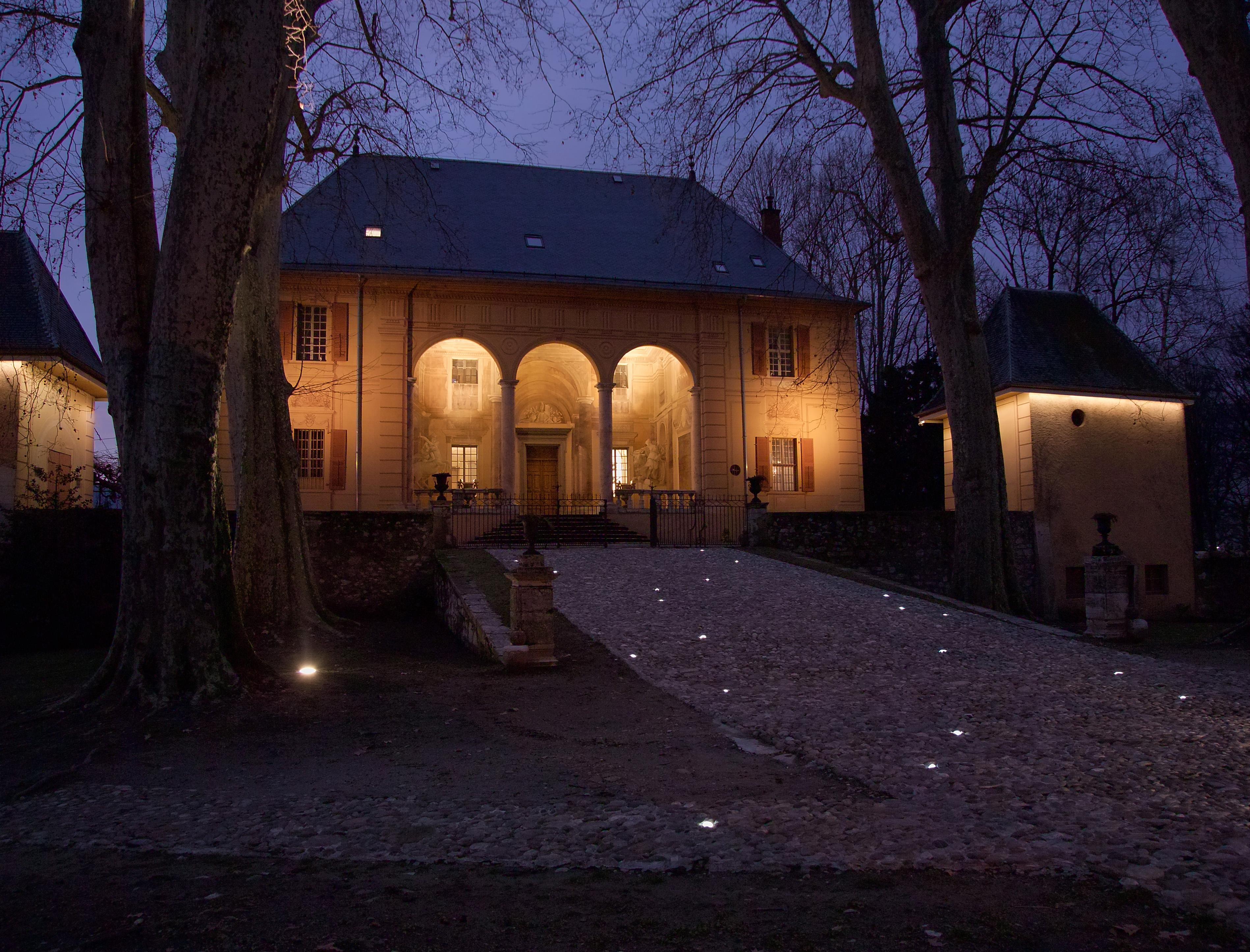 Mise en lumière du palais de Caramagne (Chambéry, Savoie)