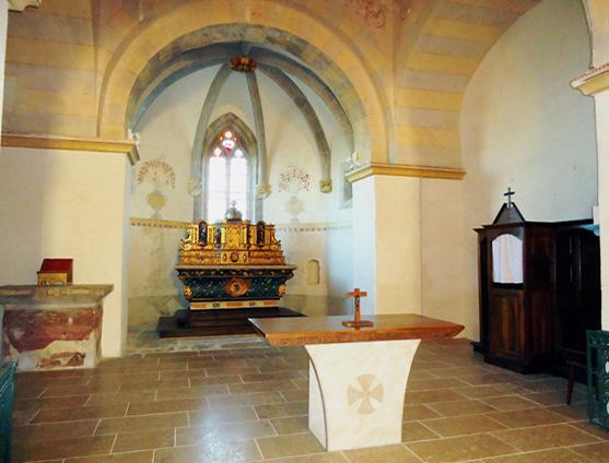 Restauration des fresque de l'église (Revel-Tourdan, Isère)