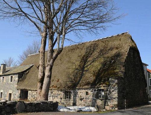 Toiture en genêt de la ferme de Clastre (Sainte-Eulalie, Ardèche)