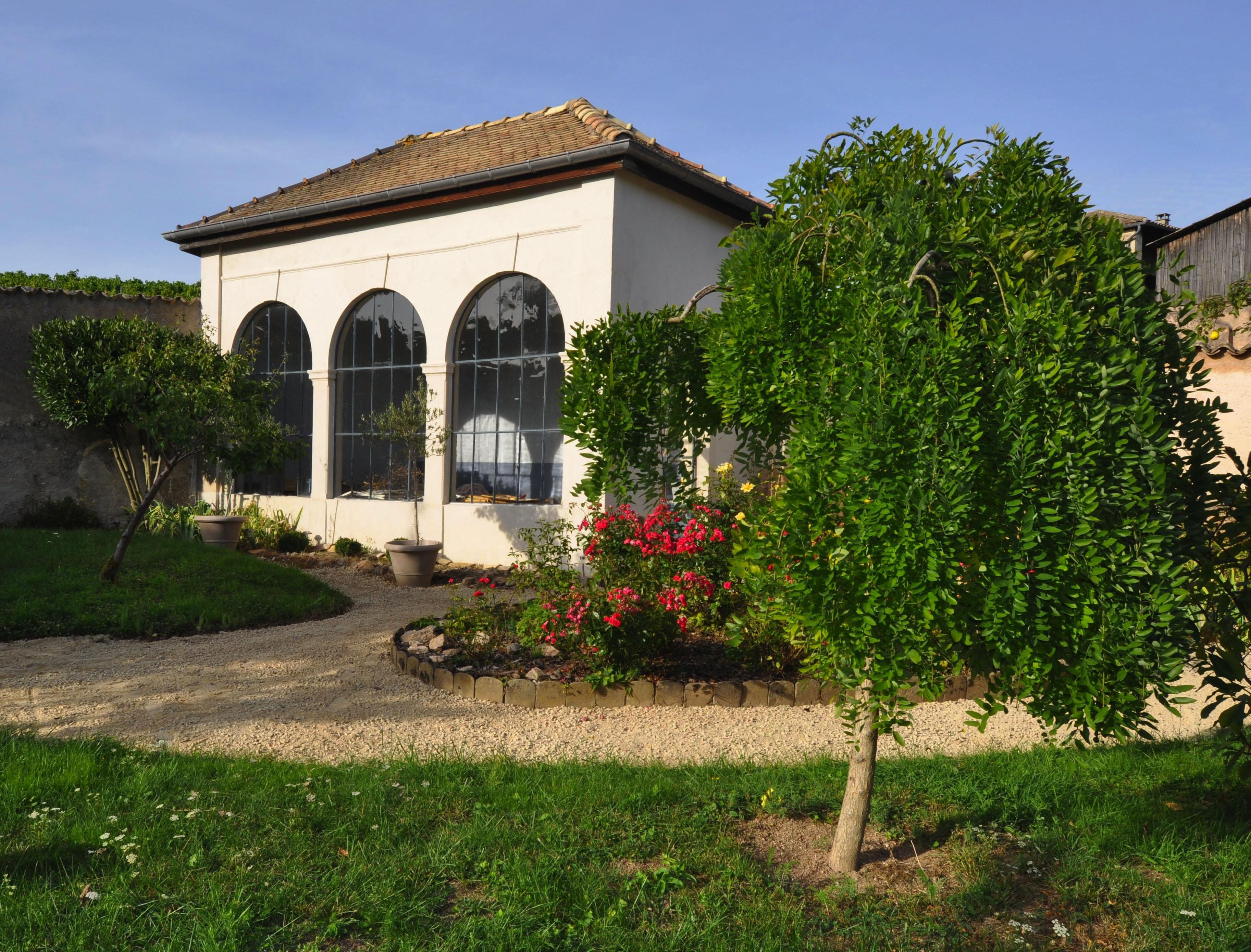 Restauration de l'orangerie (Fleurie, Rhône)