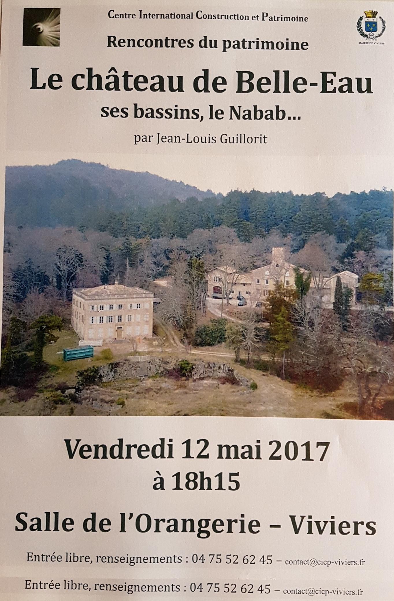 Rencontre Patrimoine : le château de Belle-Eau, ses bassins, le Nabab