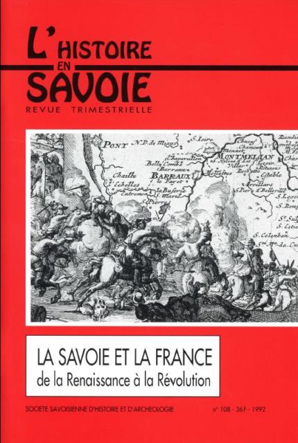 La Savoie et la France de 1561 à 1789