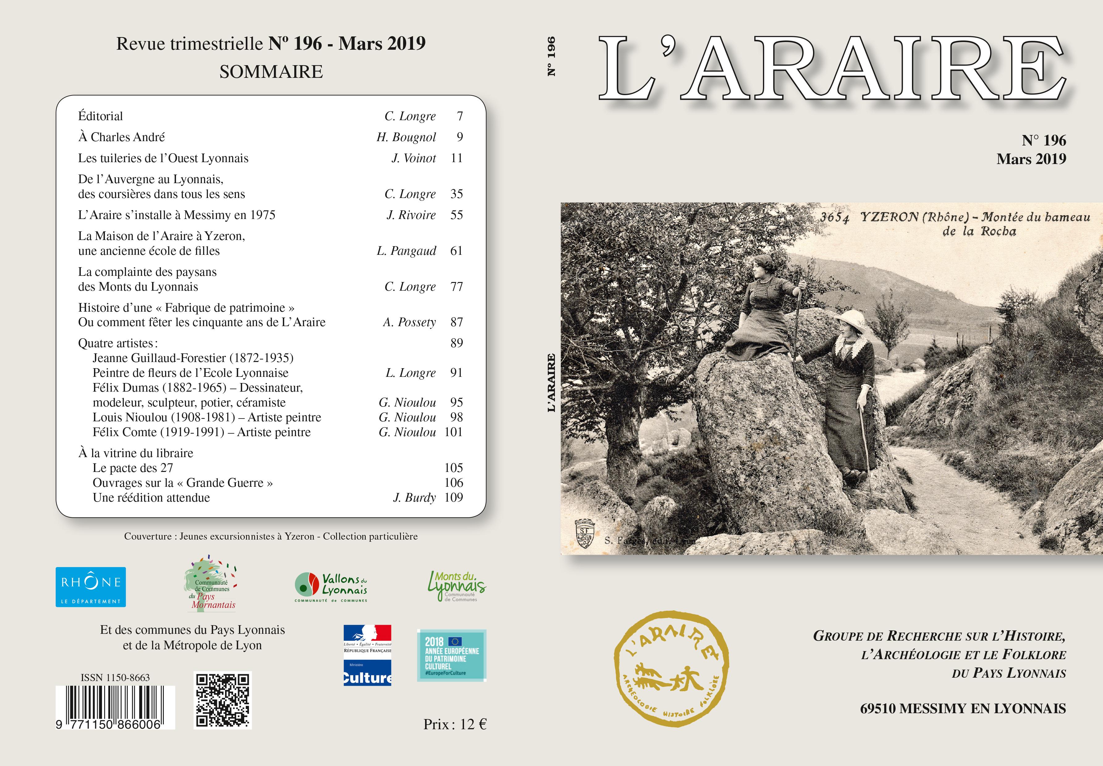 Revue 196 - L'Araire