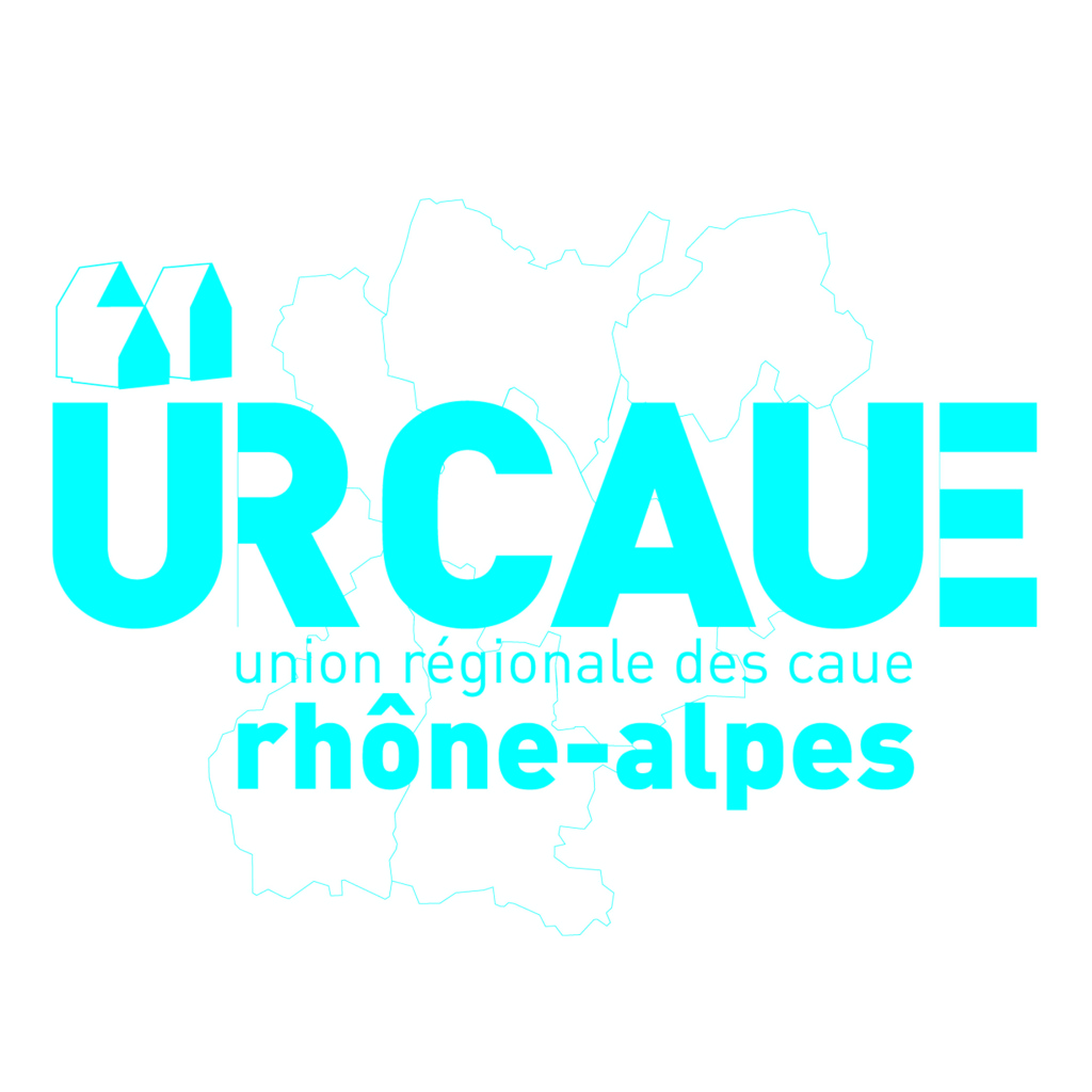 Logo de l'Union régionale des Conseil d'Architecture, d'Urbanisme et d'Environnement (URCAUE) Rhône-Alpes