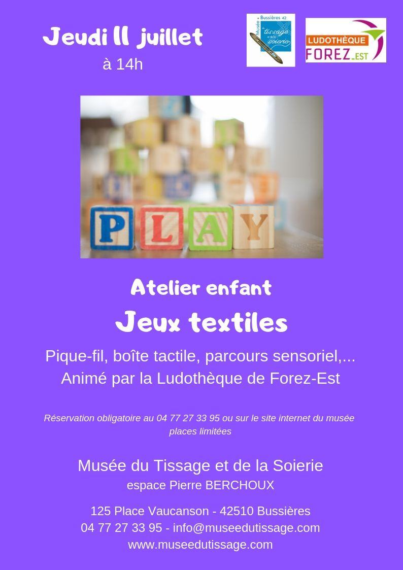 Atelier enfant : jeux textiles
