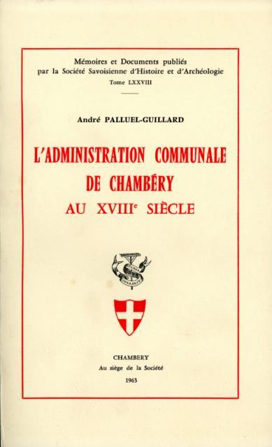 L'administration communale à Chambéry au XVIIIe siècle