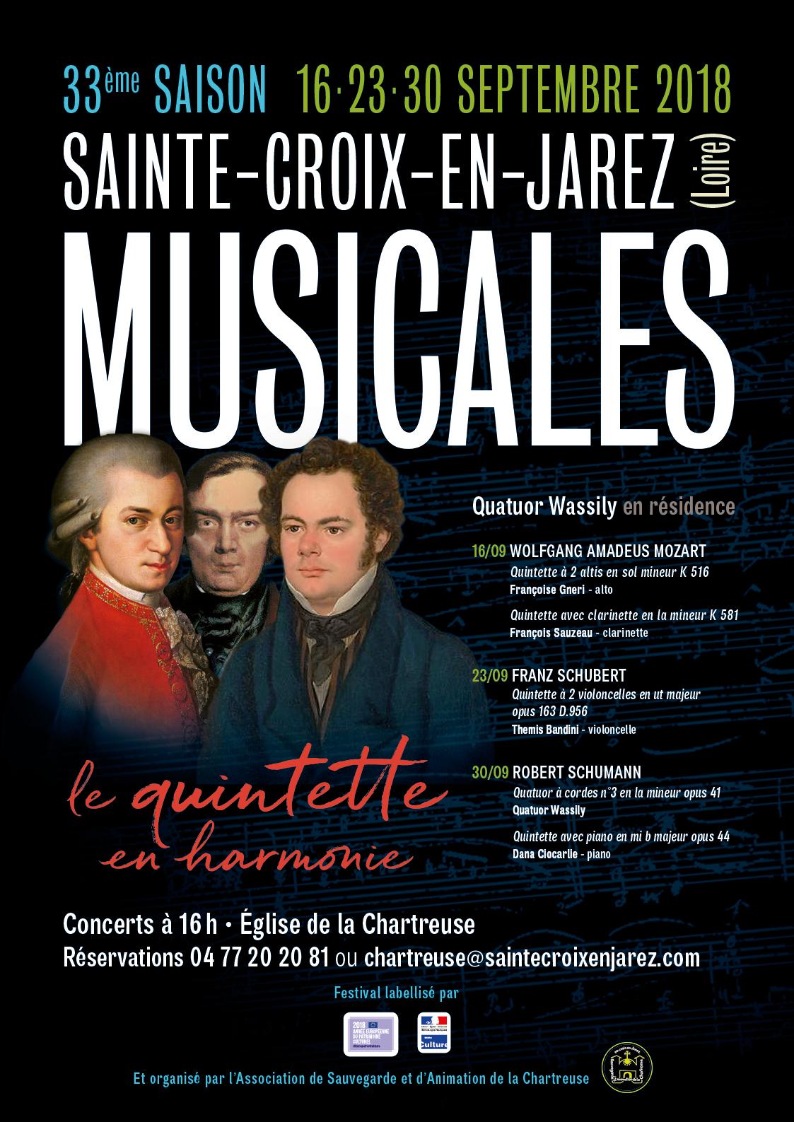MUSICALES 2018 à SAINTE CROIX EN JAREZ