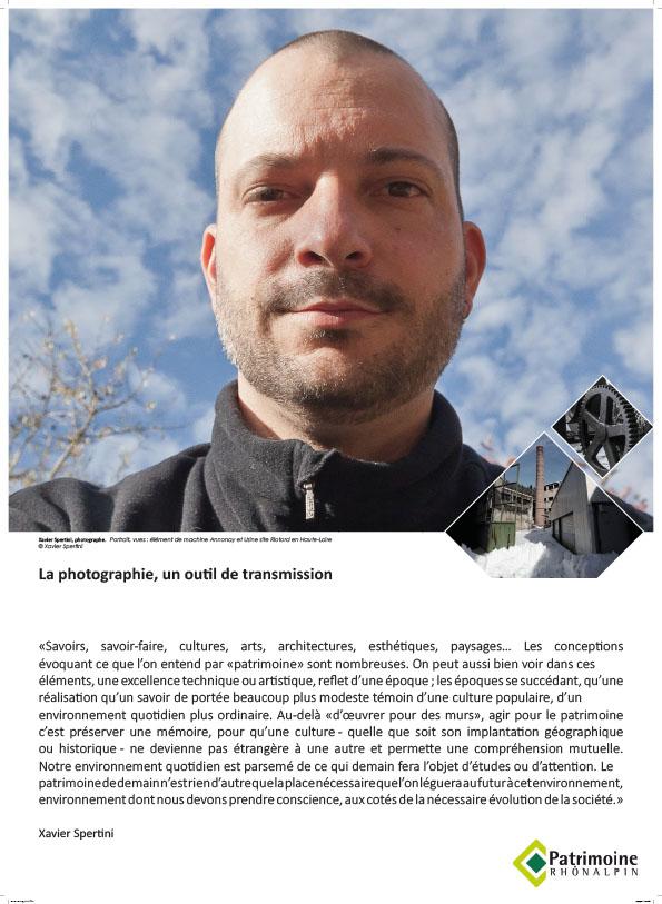 Exposition Portraits d'Hommes et de patrimoines - Xavier Spertini