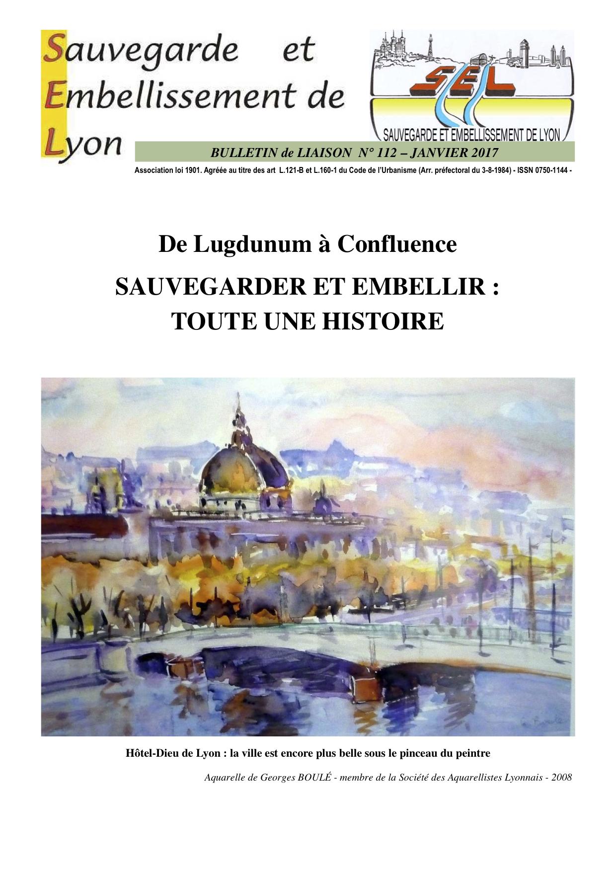Bulletin SEL n° 112 (janvier 2017)