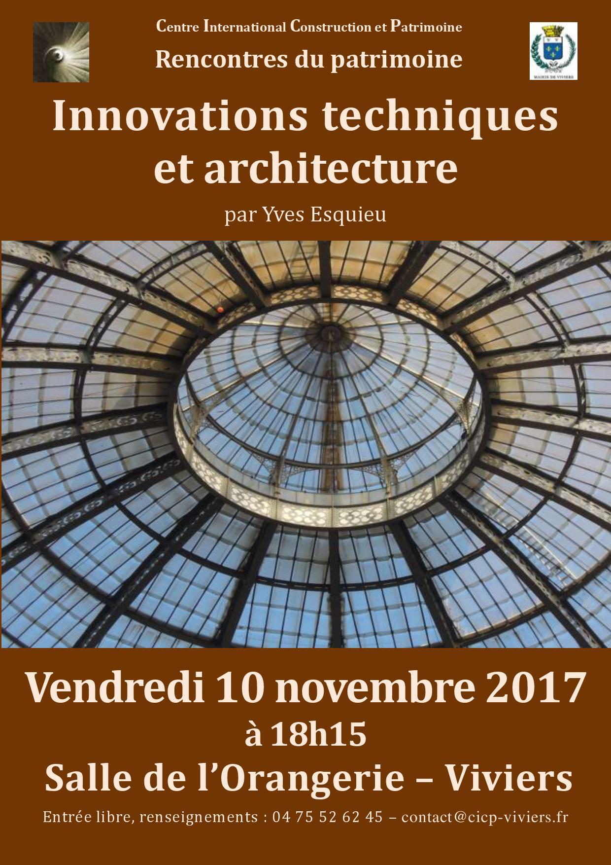 Conférence : Rôle des innovations techniques dans l'histoire de l'architecture