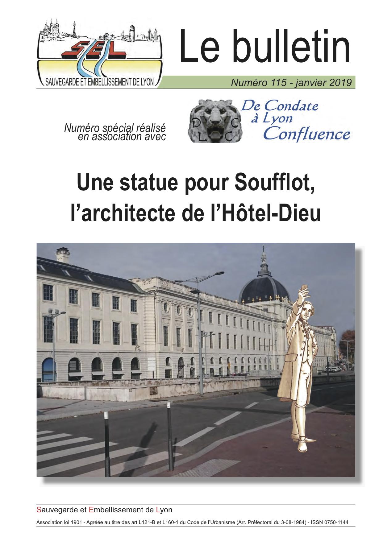 Une statue pour Soufflot, l'architecte de l'Hôtel-Dieu