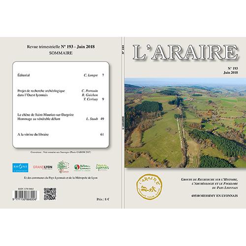 Revue L'Araire <br>n°193