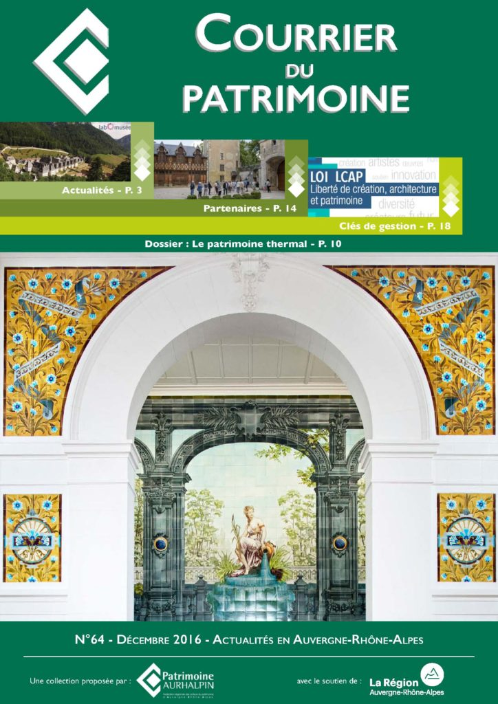 Couverture de la revue de Patrimoine Aurhalpin, le Courrier du patrimoine